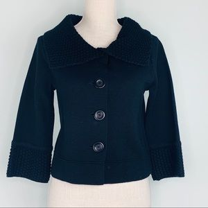 CAbi Black Knit Button Down Sweater Jacket Sz XS